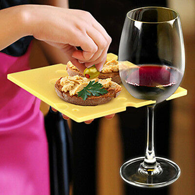 Reusable Cheese Plate FRED Swish Dish Appetiser Serving Plates Hold Wine Glasses
