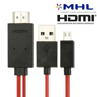 Cable Microusb Mhl Full Hd 1080P & Conector Usb & Cable Hdmi 2M Mirroring Hdtv