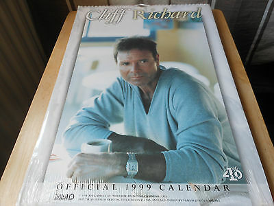 CLIFF RICHARD 1999 official  calendar still sealed in the original  packaging