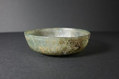 *Aphrodite Gallery* ANCIENT ROMAN SHALLOW RIBBED GLASS BOWL