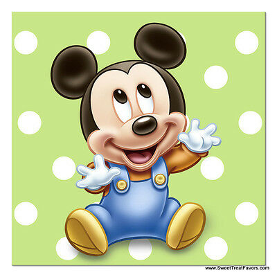 Mickey Mouse Baby NAPKINS Cake 1st First Birthday Decoration Party Supplies Boy