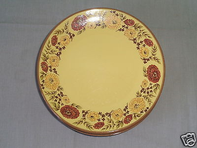 7 Taylor Smith Indian Summer Yellow & Brown Flower Ceramic Ironware Salad Plate