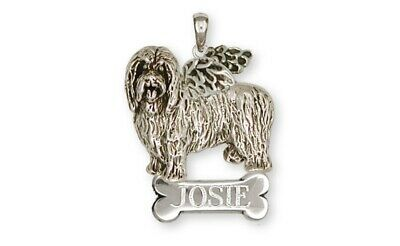 Bearded Collie Angel Pendant Handmade Sterling Silver Dog Jewelry BCL1-ANP