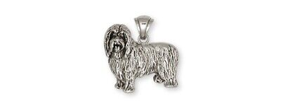 Bearded Collie Pendant Handmade Sterling Silver Dog Jewelry BCL1-P