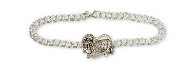 Bearded Collie Bracelet Handmade Sterling Silver Dog Jewelry BCL2-BR