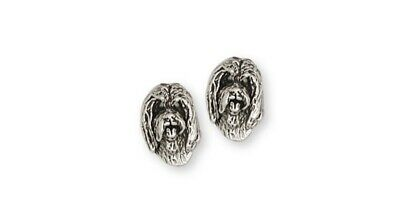 Bearded Collie Earrings Handmade Sterling Silver Dog Jewelry BCL3-E