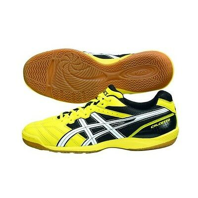 Asics Calcetto Futsal Shoes Yellow x White WD 6 TST328-0401 from Japan New