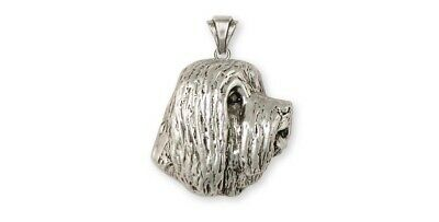 Bearded Collie Pendant Handmade Sterling Silver Dog Jewelry BCL4-P