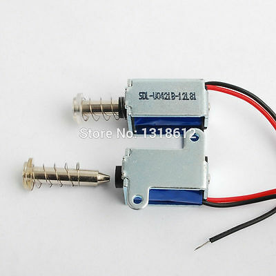 2pcs 1.5W 3-12V DC Micro DC solenoid pull/suction Mini electromagnet with spring