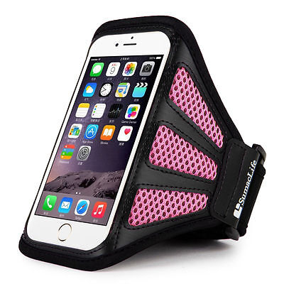 Sumaclife Mesh Running Sports Gym Armband Case Holder for Apple iPhone 8 7 6s 6