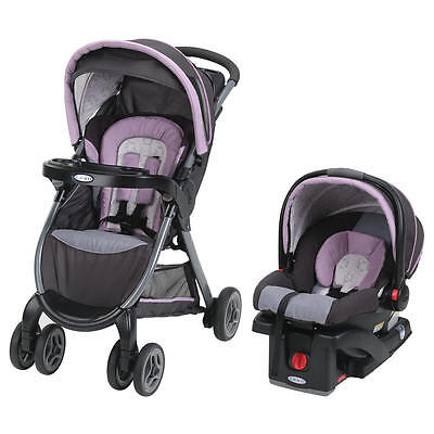 Graco FastAction Fold Click Connect Travel System - Janey