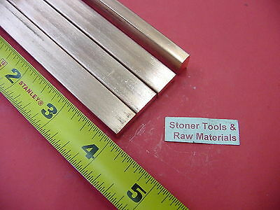 "4 Pieces 1/4""x 1/2"" C110 COPPER BAR 4"" long Solid Flat .25"" Bus Bar Stock H02"