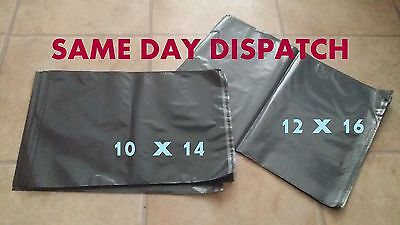 50 - 12  x 16 + 10 x 14 STRONG LARGE GREY POSTAL MAILING BAGS