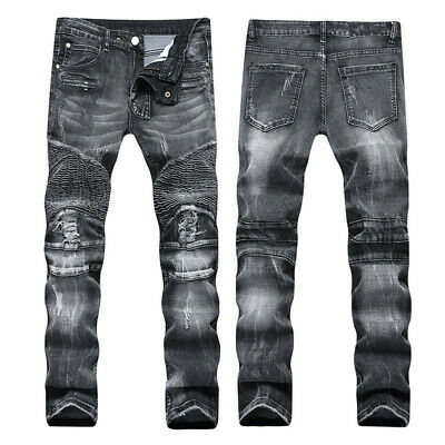 2016 New Jeans With long Flap Studded Wings For Men Size 32-42 #0311
