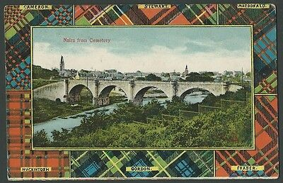 Nairn Highland From Cemetery 1909 Woolstone Printed Postcard