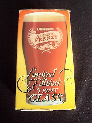 Rare Official Ushers Autumn Frenzy Pint Glass Boxed Special Ed Unused Free Ukp&p