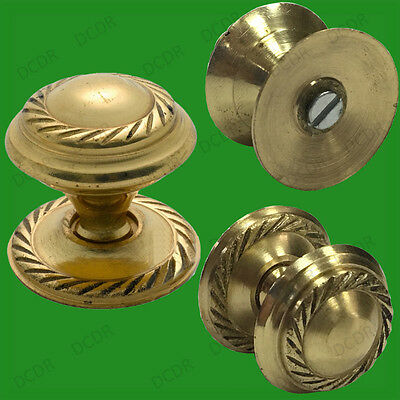 2x 38mm Georgian Solid Brass Cabinet, Cupboard, Drawer Furniture Door Knobs