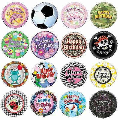 "18"" FOIL PARTY BALLOON (Helium) Range of DESIGNS THEMES (Birthday Supplies)"