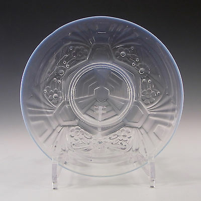 Jobling Art Deco Opaline/Opalescent Glass Flower Plate