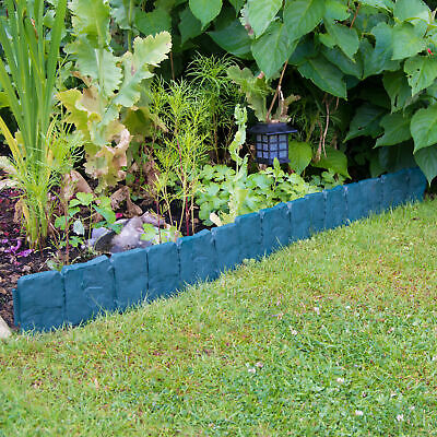2.5m Woodside Green Border Fencing Panels Garden Flowerbed/Pathway/Lawn Edging
