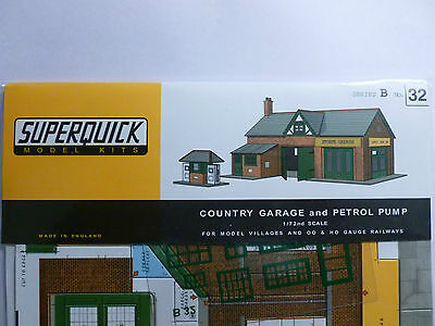 Superquick B Series Card Kit B32 Country Garage OO/HO model railways NEW