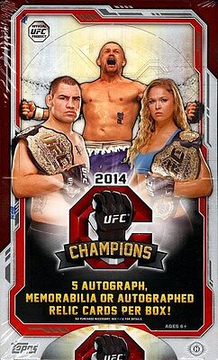 2014 Topps Ufc Champions Hobby Box Blowout Cards