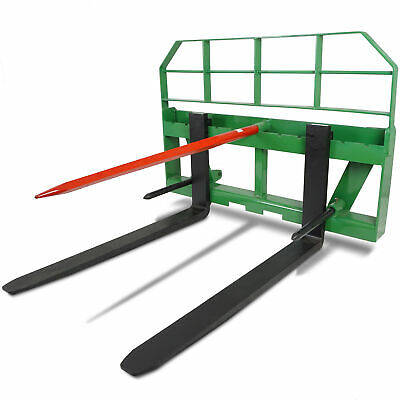 "Titan 48"" Pallet Fork Attachment HD 49"" Hay Bale Spear fits John Deere Global"