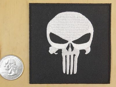 RADIOACTIVE BIOHAZARD Death Skull Punisher IRON-On Airsoft Biker MORALE PATCH