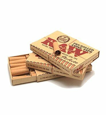 TWO Box Packs PERFECTO All Natural PreRolled Cone Tips RAW ROLLING PAPERS BRAND