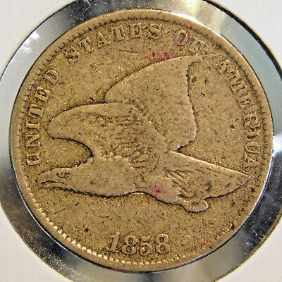 1858-SL (SMALL LETTERS) FLYING EAGLE ONE CENT 1c COIN (LOT #2)