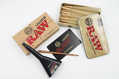 Raw King Size Cone Bundle With Raw Loader And Tin