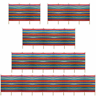 4-10 Pole Windbreak Beach Holiday Camping Garden Wind Breaker Shelter Sun Screen