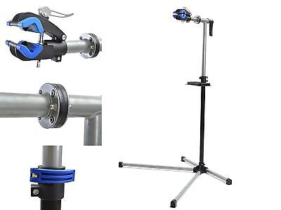 "Adjustable 41"" to 71"" Pro Bicycle Rack Repair Stand w/ Telescopic Arm Tool Tray"