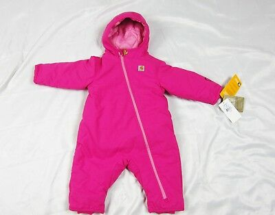 Carhartt Infant Toddler Quick Duck Snowsuit 6M Pink Thistle NWT Water Resistant