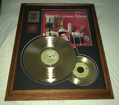 Elvis Gold Record Award Christmas Album Framed