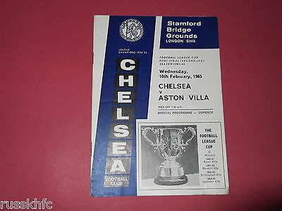 1965 Chelsea V Aston Villa League Cup Semi Final