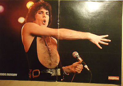 1 german poster QUEEN FREDDIE MERCURY SHIRTLESS GAY INT. ROCK BOY GROUP BOYS