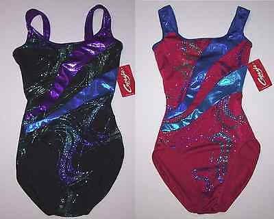 Nwt New Capezio Leotard Competition Costume Glitter Hologram Foil Women + Girl
