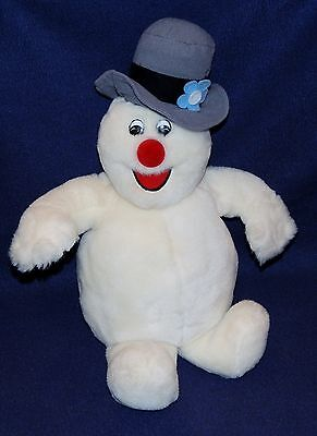 "17"" Singing Musical FROSTY THE SNOWMAN Plush Doll Stuffed Animal Gemmy ?"