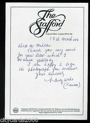 Handwritten Letter on The Stafford Hotel Notepaper from NANCY WAKE