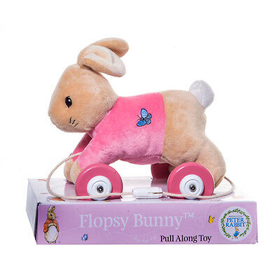 Beatrix Potter Flopsy Bunny Pull Along Toy NEW