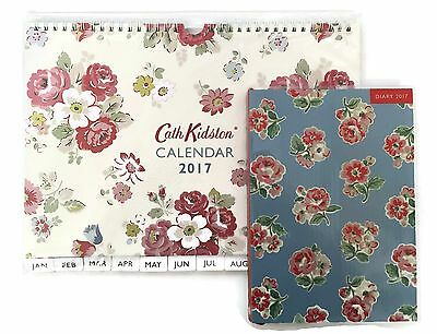 Cath Kidston: 2017 A5 Diary Ashdown Rose & Wall Calendar Forest Bunch