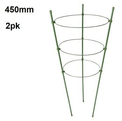 3 Ring Garden Plant Support 450mm High Climbing Plant Tie Support - Pack of 3