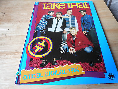 TAKE THAT  hardback book TAKE THAT OFFICIAL ANNUAL 1994 some scuff damage spine