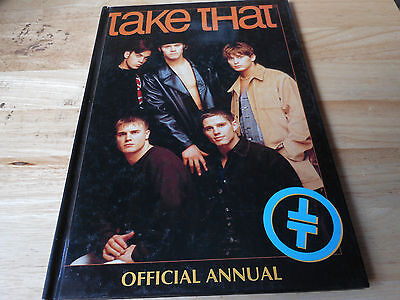 TAKE THAT  hardback book TAKE THAT OFFICIAL ANNUAL with the DOUBLE T T LOGO 1994
