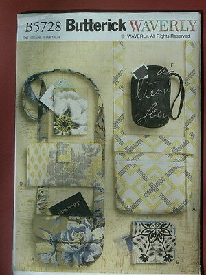 Butterick Pattern 5728 Bags and Purses shoulder bags totes lined pockets