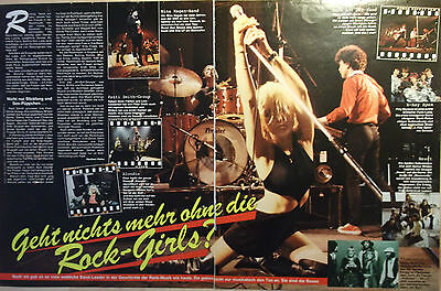 2 german clipping BLONDIE NOT SHIRTLESS DEBBIE HARRY PUNK ROCK BOY BAND BOYS