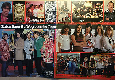 2 german clipping STATUS QUO NOT SHIRTLESS PARFITT ROCK BOY BAND BOYS GROUP 70`s