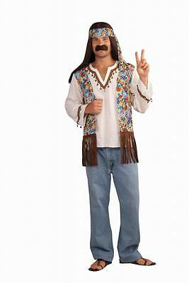 Mens Adult HIPPIE GENERATION 60s 70s Groovy Costume Set