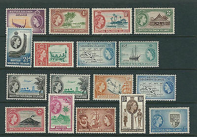 SOLOMON ISLANDS 1956-60 QEII First definitives  VF MLH